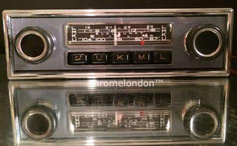 6v12+/- BLAUPUNKT ESSEN Vintage Classic Car FM Radio +MP3 SeeVideo