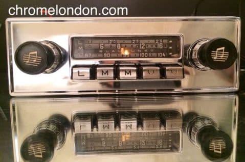 6v12+/- BLAUPUNKT KOLN Autoseek Vintage Classic Car FM Radio +MP3 seevideo WARRANTY ASTON DB JAG ETYPE ROLLS FERRARI ALFA PORSCHE 356