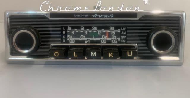 BECKER AVUS  Vintage PINSTRIPE Classic Car Radio +MP3 MERCEDES SL 107 113 PORSCHE 911 FERRARI ETYPE