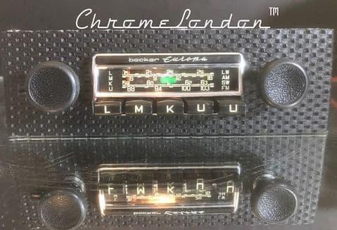 BECKER EUROPA BASKETWEAVE Vintage CHROME Classic Car FM Radio +MP3 PORSCHE 911 912 65-73