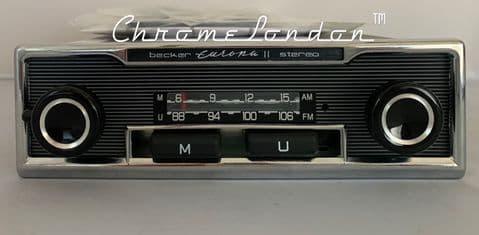 BECKER EUROPA II STEREO 662 Vintage Classic Car 108FM Radio FULL BLUETOOTH MODERN INTERNALS WARRANTY