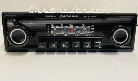 BECKER EUROPA II STEREO 772 MONOCHROME Vintage Classic Car 108FM Radio BLUETOOTH UPGRADED INTERNALS