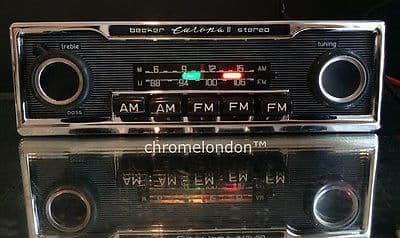 BECKER EUROPA II STEREO US Vintage Car FM Radio MP3 MINT RESTORED see MERCEDES 113 PAGODA 107 SL 116 PORSCHE 911 FERRARI DINO 365 330 512