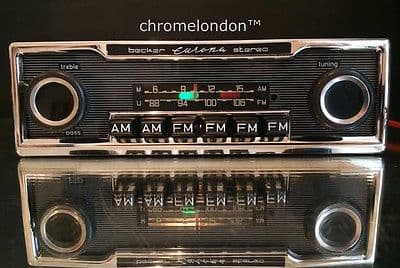 BECKER EUROPA II STEREO US  Vintage Classic Car FM Radio +MP3 MERCEDES 113 PAGODA 107 SL 116 PORSCHE 911 FERRARI 354 DINO 330 512