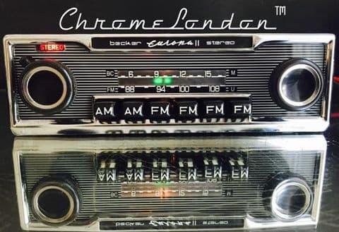BECKER EUROPA II STEREO USA 467 Vintage Classic Car FM Radio MERCEDES PORSCHE ETYPE ASTON FERRARI