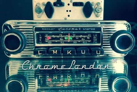 BECKER EUROPA II STEREO Vintage CHROME Classic Car FM Radio MERCEDES 190SL 113 PORSCHE FERRARI ETYPE