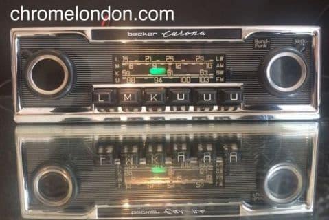 BECKER EUROPA LMKUUU (3XFM) Vintage Chrome Classic Car FM Radio MP3 RESTORED seeVideo WARRANTY MERCEDES 113 PAGODA 107 SL PORSCHE 911 FERRARI 365