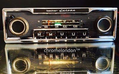 BECKER EUROPA MU Vintage Classic Car FM Radio MP3 FULLY WORKING seeVideo WARRANTY MERCEDES 113 PAGODA 107SL 116 450SEL 6.9 PORSCHE 911 FERRARI ETYPE