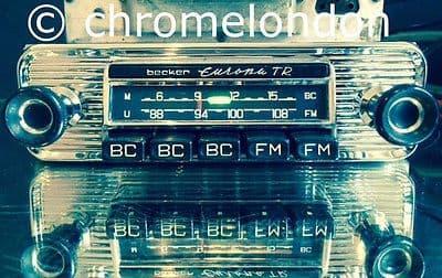 BECKER EUROPA TR US 108 Vintage Classic Car FM Radio seeVideo FERRARI 330 250 275 MERCEDES