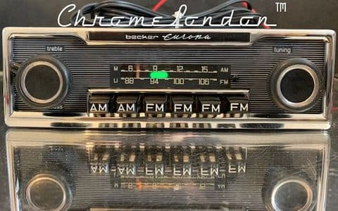 BECKER EUROPA (US) Vintage PINSTRIPE Classic Car FM Radio MERCEDES 113 107 116 PORSCHE  FERRARI
