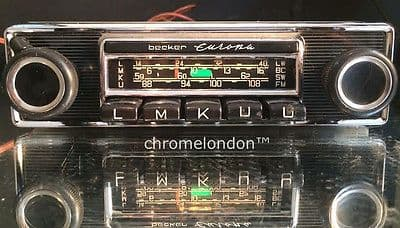 BECKER EUROPA Vintage Chrome Classic Car FM 108 Radio+MP3 seeVideo