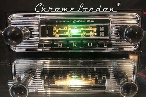 BECKER EUROPA Vintage Chrome Classic Car FM Radio +MP3  MINT MERCEDES 190 SL