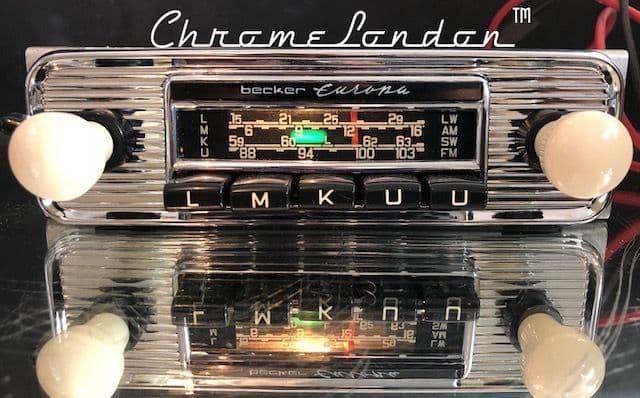 BECKER EUROPA Vintage Classic Car FM Radio +MP3  MERCEDES 190SL ASTON FERRARI JAGUAR ALFA