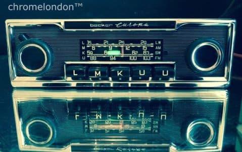 BECKER EUROPA Vintage Classic Car FM Radio +MP3 MINT RESTORED seeVideo 6M WARRANTYMERCEDES 113 PAGODA 107SL 116 600 GROSSER PORSCHE 911 FERRARI