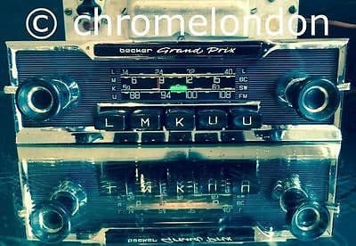 BECKER GRAND PRIX US WONDERBAR Vintage Classic Car FM Radio +AMP MP3 *video MINT FERRARI 330 250 275 MERCEDES 190 SL PAGODA JAGUAR ETYPE