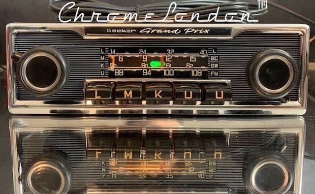 BECKER GRAND PRIX Vintage Classic Car FM Radio +MP3 MERCEDES 113SL PAGODA 107  PORSCHE FERRARI ETYPE