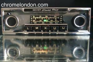 BECKER GRAND PRIX  Vintage PINSTRIPE Classic Car FM Radio +MP3  MERCEDES 113SL PAGODA 107
