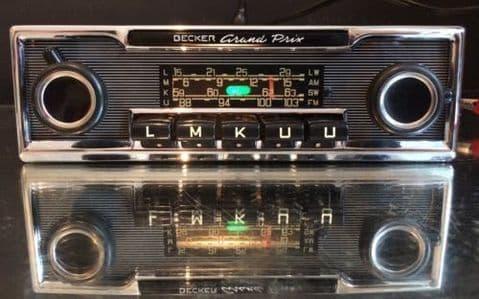 BECKER GRAND PRIX Wonderbar Vintage Classic Car FM Radio MP3 WARRANTY video MINT MERCEDES 113 PAGODA 107 SL PORSCHE 911 FERRARI DINO