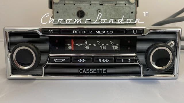 BECKER MEXICO 374 Vintage Chrome Classic Car STEREO Radio Cassette  MERCEDES PAGODA PORSCHE FERRARI