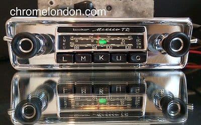 BECKER MEXICO TR Vintage Classic Car FM Radio +Amp  *video FERRARI MERCEDES 190 SL PORSCHE