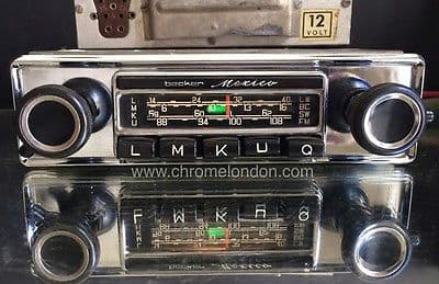 BECKER MEXICO US WONDERBAR Vintage Classic Car FM Radio +AMP+MP3 MINT RESTORED see video MERCEDES 190SL 113 PAGODA 107  PORSCHE 911 912 FERRARI DINO