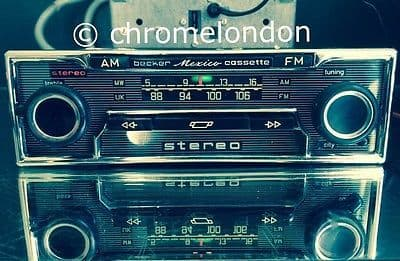 BECKER MEXICO VOLLSTEREO Vintage Classic Car FM Radio Cassette MP3 MERCEDES 113 SL PORSCHE FERRARI