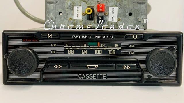 BECKER MEXICO VOLLSTEREO  Vintage MONOCHROME Classic Car FM Radio Cass FERRARI PORSCHE ASTON