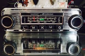 BECKER MEXICO Wonderbar Vintage CHROME Classic Car Radio +AMP MINT MERCEDES 190SL FERRARI 330 ETYPE