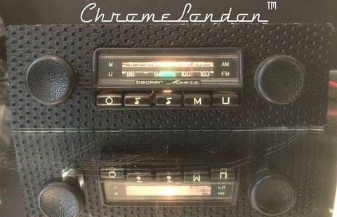 BECKER MONZA BASKETWEAVE Vintage Classic Car FM Radio +MP3 PORSCHE 911 912 65-73