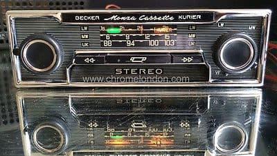 BECKER MONZA STEREO KURIER VINTAGE CLASSIC CAR FM RADIO CASSETTE +MP3 MINT RESTORED  MERCEDES 113 PAGODA 107 SL 116 FERRARI DINO 365 PORSCHE 911 ETYPE