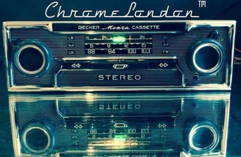 BECKER MONZA STEREO Vintage Chrome Classic Car Radio Cassette +MP3 video MERCEDES SL 113 PAGODA 114 115 116 PORSCHE 911 FERRARI DINO 365 ETYPE