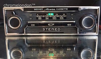 BECKER MONZA STEREO Vintage Classic Car FM Radio Cassette +MP3 *MINT* seeVideo 6 month warranty MERCEDES 113 PAGODA 107 SL 116 PORSCHE 911 FERRARI