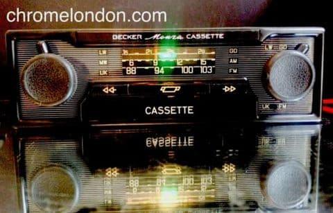 BECKER MONZA STEREO Vintage Monochrome Classic Car FM Radio Cassette +MP3 see video FERRARI 308 365 208 MASERATI MERAK PORSCHE 911 ALFA MONTREAL