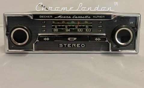 BECKER MONZA STEREO Vintage PINSTRIPE Classic Car Stereo Radio Cassette  MERCEDES SL PORSCHE