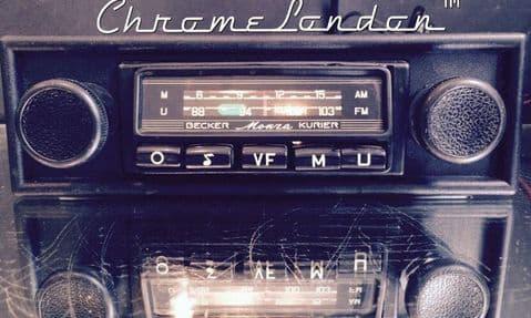 BECKER MONZA Vintage Classic Car FM Radio +MP3 WARRANTY PORSCHE 911 FERRARI 308 208 MASERATI MERAK
