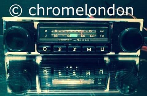 BECKER MONZA Vintage Classic Car MW FM Radio +MP3 seeVideo RESTORED+WARRANTY FERRARI 308 PORSCHE 911 930 MASERATI MERAK ALFA BMW