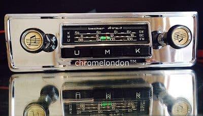 BECKER Vintage Chrome Classic Car FM108 Radio MP3 MINT  MERCEDES PORSCHE FERRARI ROLLS ASTON