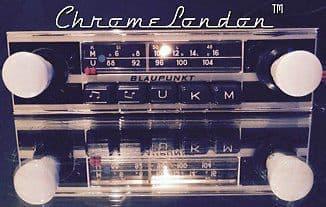 BLAUPUKT MANNHEIM Vintage Classic Car FM Radio +MP3 seeVideo MINT+WARRANTY VW KARMANN ALFA FIAT TR6 MG JENSEN PORSCHE 912 914