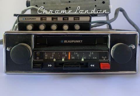 BLAUPUNKT BAMBERG CR STEREO Classic Car FM Radio Cassette +MP3 74-77 PORSCHE 911 930 TURBO