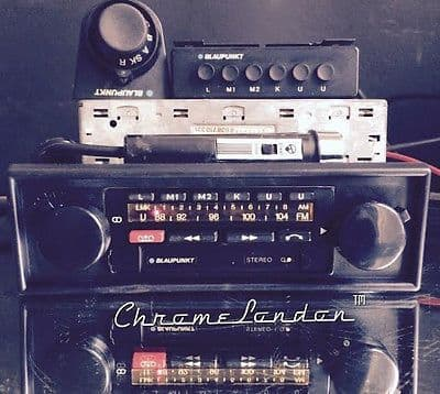 BLAUPUNKT BAMBERG ELECTRONIC Vintage Radio Cass Amp+Mic+Mem+Ari RESTORED+WARRANTYPorsche 911SC 911S 930 Turbo Ferrari 308 512 Maserati