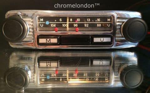 BLAUPUNKT COMPACT Vintage Chrome Classic Car FM MW Radio +MP3 see video