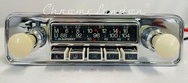 BLAUPUNKT DORTMUND DeLUXE Ivory Vintage Chrome Classic Car FM Radio MP3 PORSCHE VW JAGUAR FERRARI