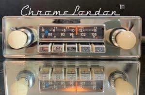 BLAUPUNKT DORTMUND DeLUXE Vintage Chrome Classic Car FM Radio MP3 MINT VW BMW PORSCHE 356 912 JAG