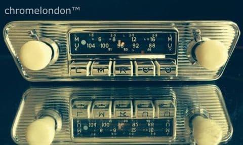 BLAUPUNKT DORTMUND DELUXE Vintage Classic Car FM Radio MP3 MINT  PORSCHE  VW  JAGUAR