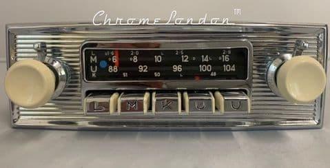 BLAUPUNKT DORTMUND DELUXE  Vintage Ivory Classic Car FM Radio +MP3  JAG ETYPE ASTON VW PORSCHE
