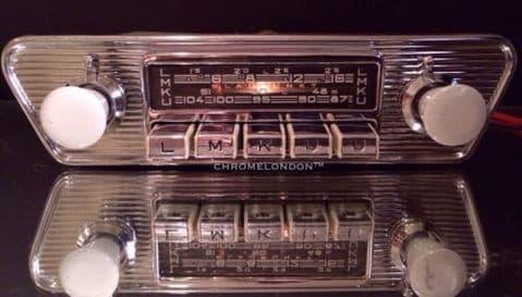 BLAUPUNKT DORTMUND Vintage Chrome Classic Car FM Radio
