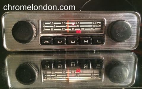 BLAUPUNKT EMDEN B VW OEM Vintage Classic Car FM Radio +MP3 seeVideo MINT RESTORED 60s70s VW BUG BEETLE CAMPER VAN BUS KARMANN GHIA