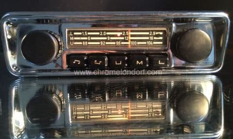 BLAUPUNKT EMDEN VW OEM Vintage Classic Car FM Radio +MP3 see video FULLY WORKING 3 MONTH WARRANTY VW BEETLE CAMPER KARMANN