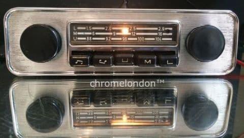 BLAUPUNKT EMDEN VW OEM Vintage Classic Car FM Radio +MP3 seeVideo FULLY WORKING 6 MONTH WARRANTY 60s70s VW BUG BEETLE CAMPER VAN BUS KARMANN GHIA