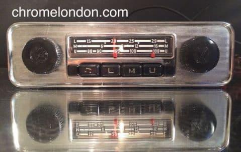 BLAUPUNKT EMDEN VW OEM Vintage Classic Car FM Radio +MP3 seeVideo MINT RESTORED 60s70s VW BUG BEETLE CAMPER VAN BUS KARMANN GHIA